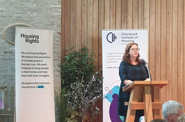 Grainne Walsh speaks at Affordable Housing Conference