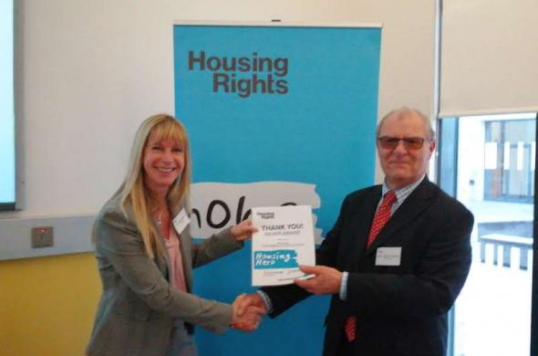 Picture of solicitor Jill Downing at Housing Rights AGM