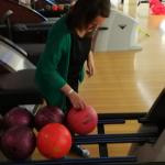 Housing Rights volunteers bowling