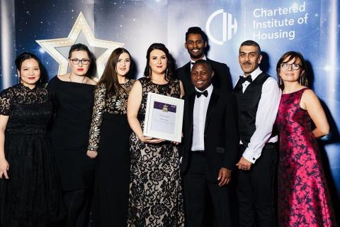 Picture of Housing Champions at CIH Awards